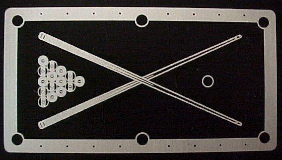 Aluminum - Pool table identification